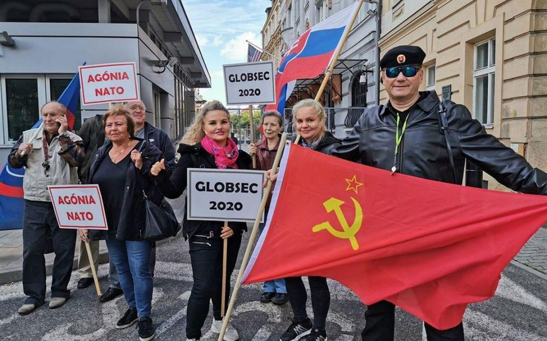 8. 10. 2020 – Bratislava – proti stretnutiu globalistov GLOBSEC